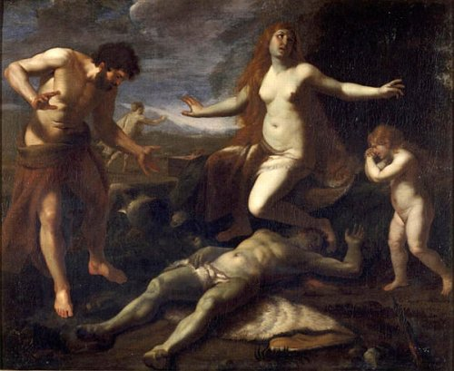 Adam And Eve Crying Abel's Death