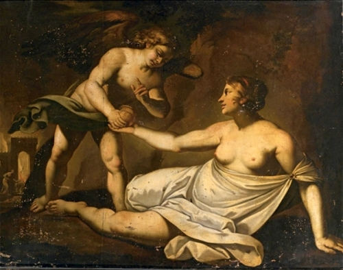 Cupid Giving Proserpine's Box To Psyche