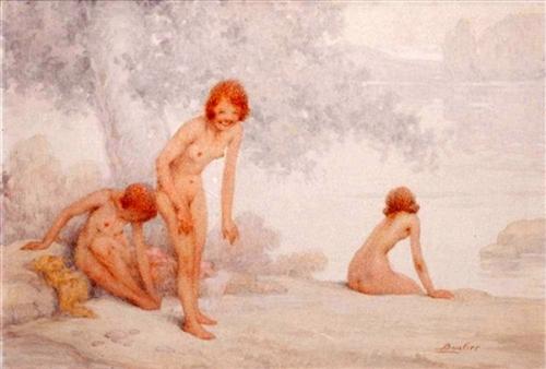 Jeunes filles au bain
