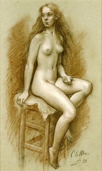 Seated Nude 3