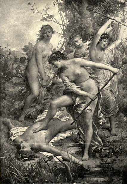 The Thracian Women Spurning The Body Of Orpheus