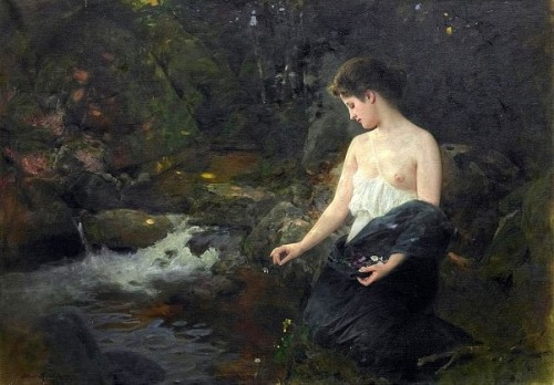 Young Woman At The Brook