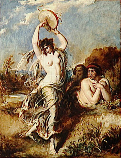 Bacchante Playing The Tambourine