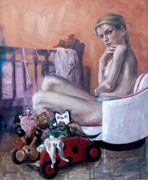 Girl With Cradle And Toys