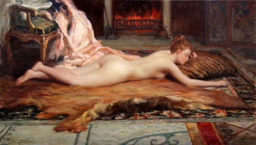 Nude At The Fireplace