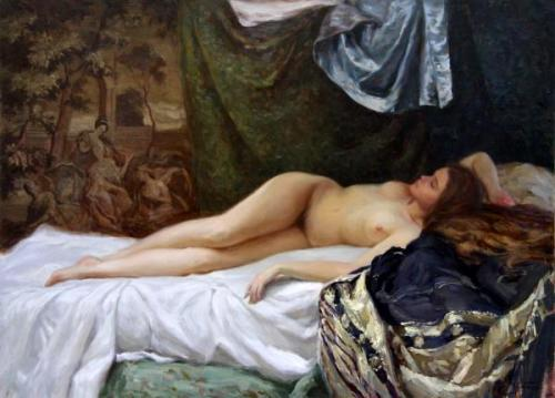 Nude With Tapestry