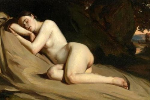 Reclining Female Nude In A Landscape