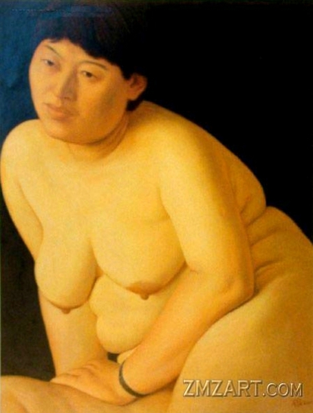 Seated Fat Woman