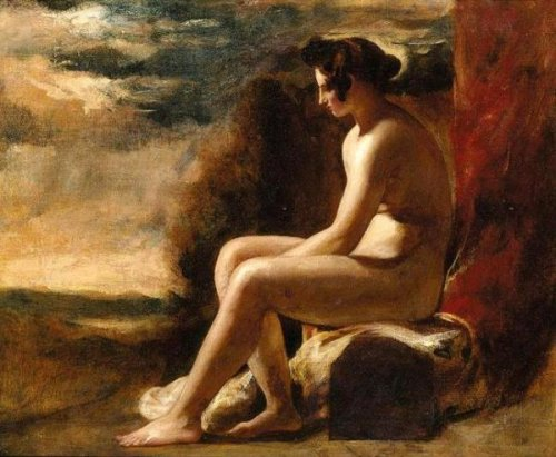 Seated Female Nude In A Landscape