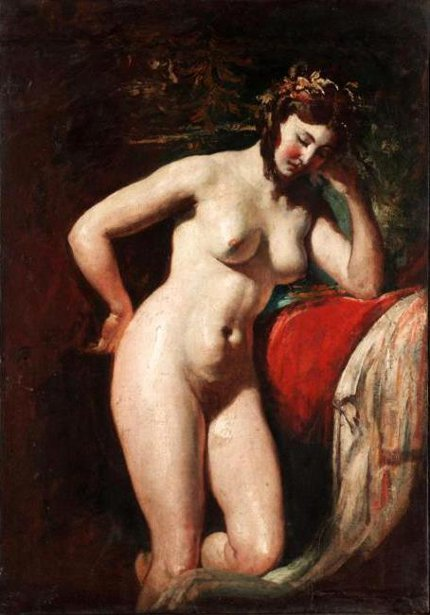 Study Of A Female Nude - Contemplation