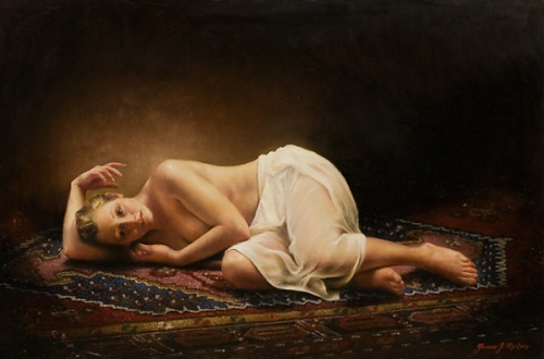 Nude On Carpet