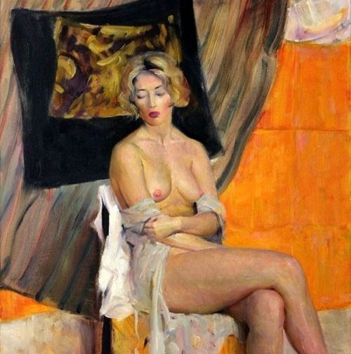 Nude On Orange