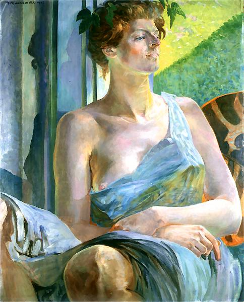 Portrait Of A Woman - Bacchante - Portrait Of Marii Balowej