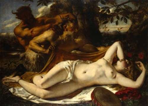 Sleeping Nymph And Satyrs