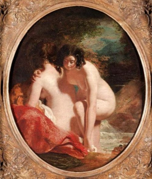 Two Girls Bathing