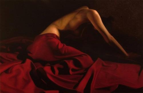 Belinda Red Drape II