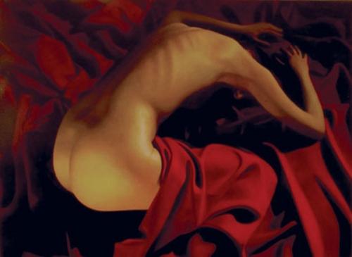 Belinda Red Drape
