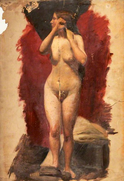 Life Study, Standing Female Nude