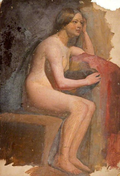 Life Study, Seated Female Nude