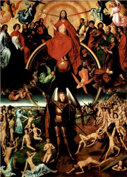 The Last Judgment - Maiestas Domini With Archangel Michael Weighing The Souls