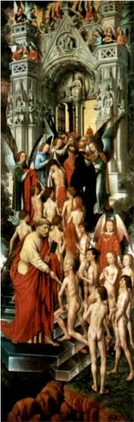 The Last Judgment - The Blessed At The Gate To Heaven With St.Peter