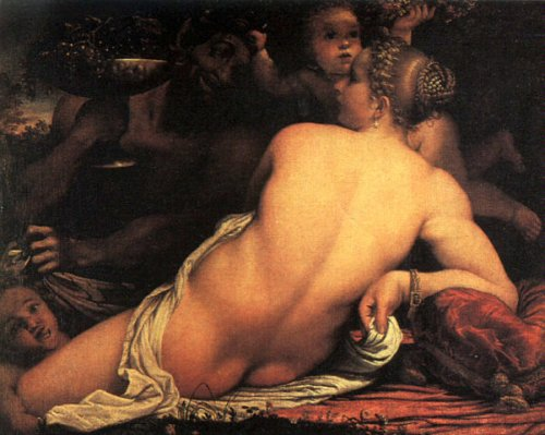 Venus With Satyr And Cupid