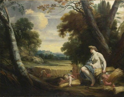 Ceres And Harvesting Cupids