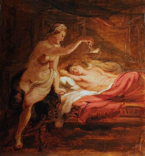 Psyche And Sleeping Love