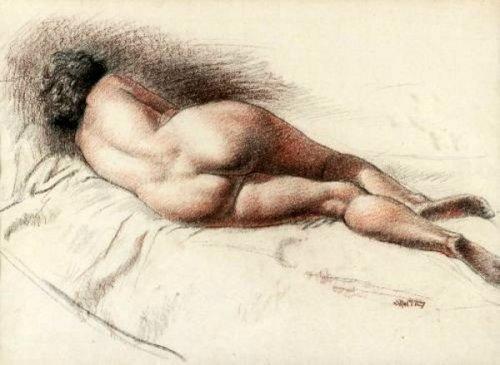 Reclining Nude (Rear)