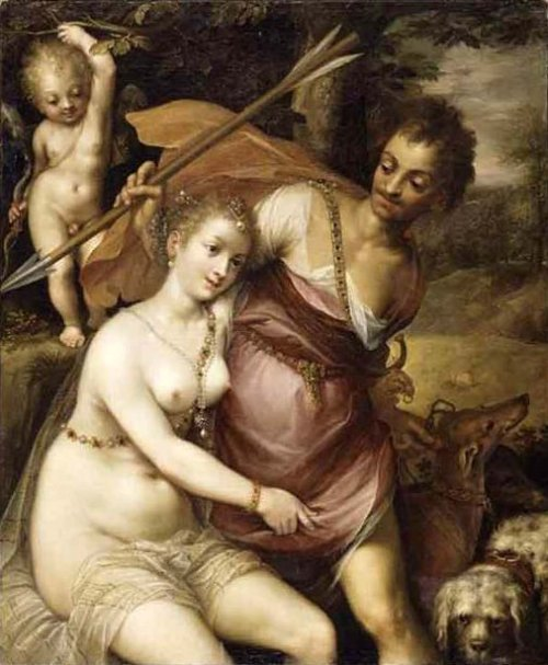 Venus Adonis And Amor