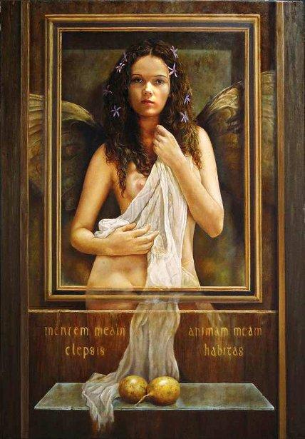 Angel con frutos de pasion