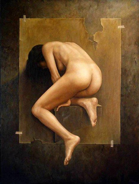 Desnudo en situacion ambigua