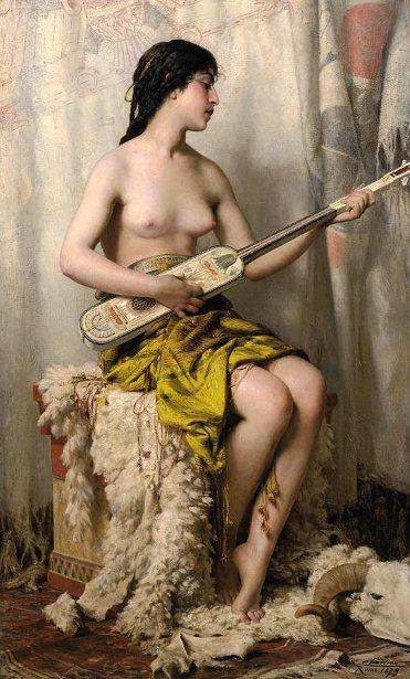 La joueuse de mandore