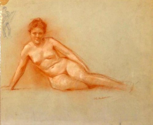 Nude Resting On One Arm