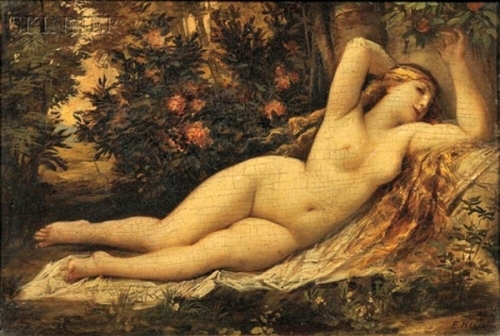 Reclining Nude In A Landscape
