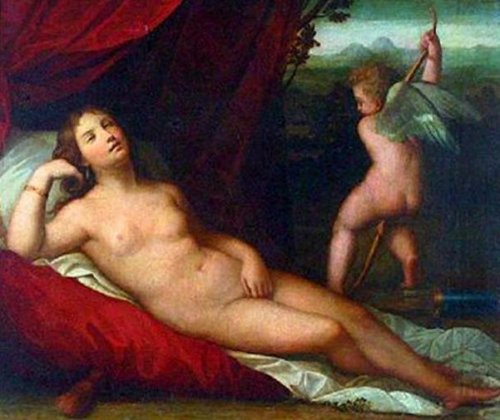 Sleeping Venus With Cupid