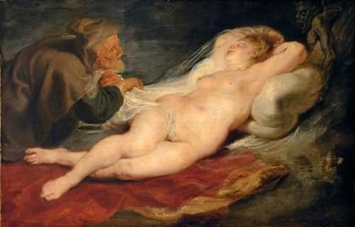 The Hermit And Sleeping Angelica