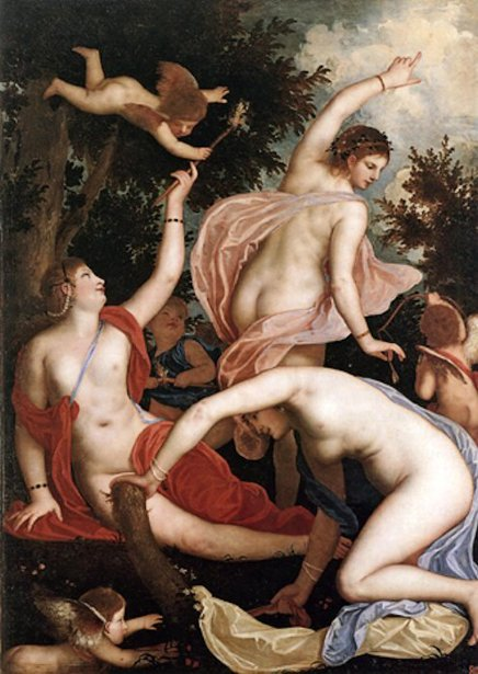 The Three Graces And Cupids
