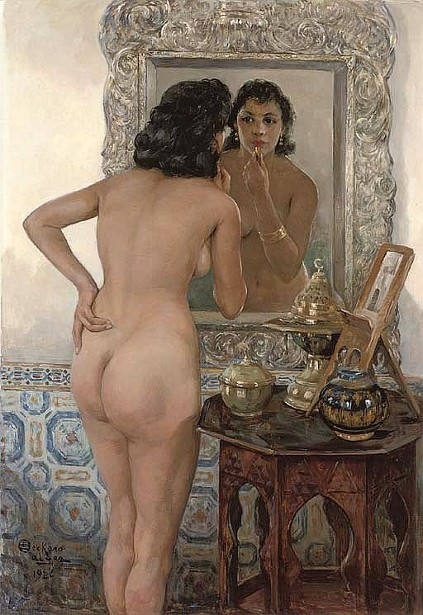 An Algerian Beauty In Front Of The Mirror