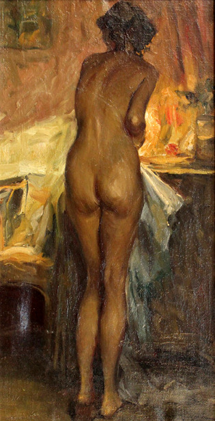 Female Nude In A Dressing Room