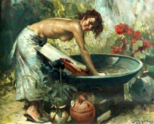Femme à sa lessive