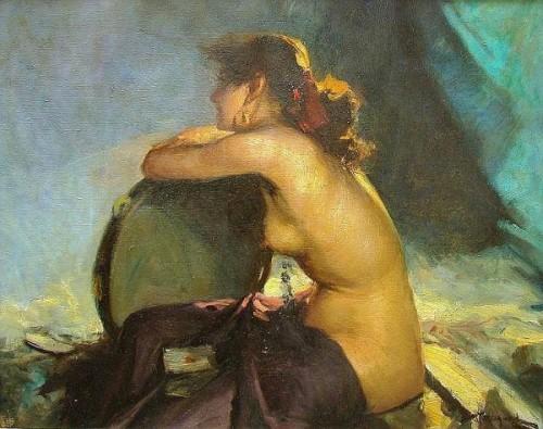 Jeune fille au tambourine