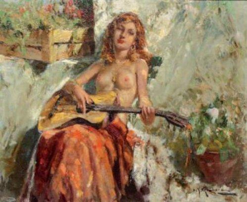 La gitane à la guitare