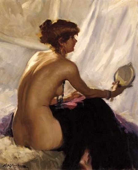 Nude With Mirror
