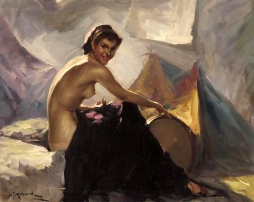 Nude With Tambourine