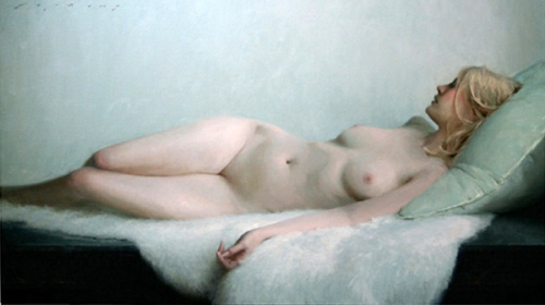 Reclining Nude In White