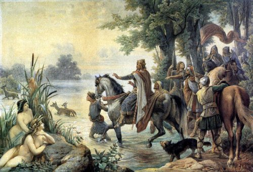 The Discovery Of Frankfurt by Charlemagne