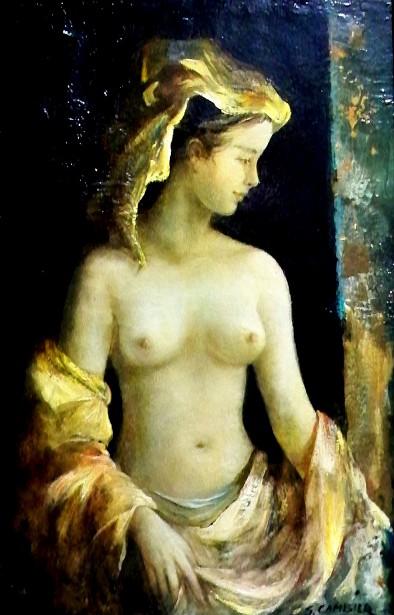 Woman Beside A Window