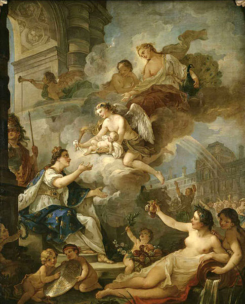 Allegory On Birth Of Marie-Zéphyrine Of France In 1750