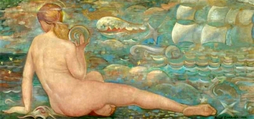 Desnudo con caracol